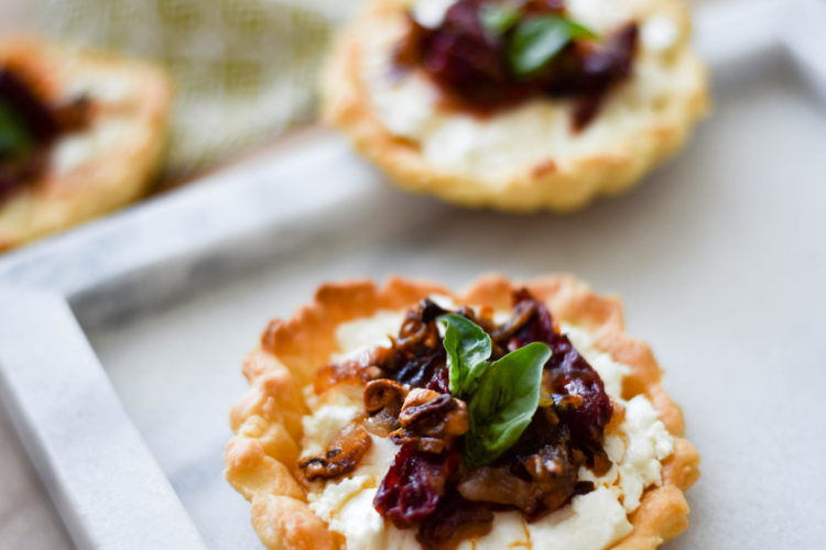 Goat Cheese Tarts | Charmed by Camille